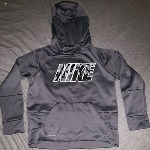 Boys Nike hoodie size M grey